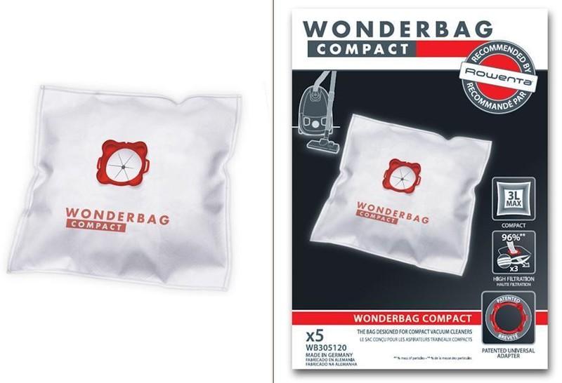 wonderbag compact x 5 pour aspirateur rowenta miss. Black Bedroom Furniture Sets. Home Design Ideas