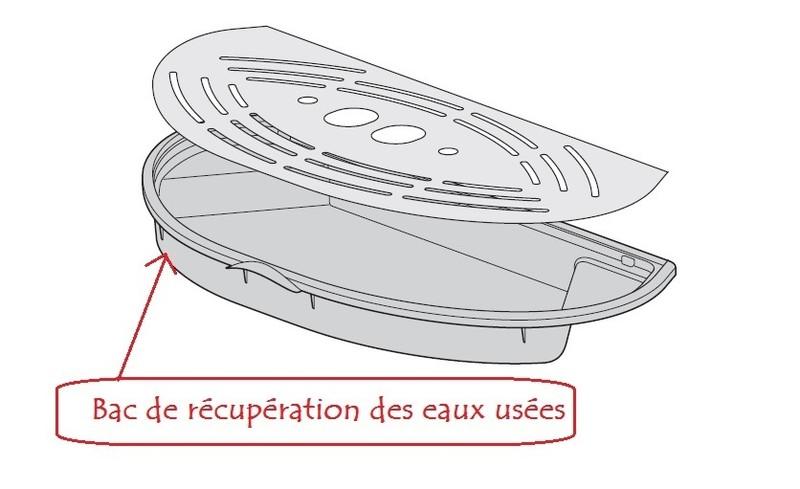 bac de r cup ration des eaux us es pour expresso delonghi. Black Bedroom Furniture Sets. Home Design Ideas