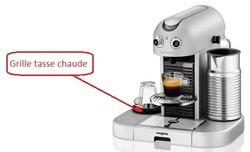 grille tasse chaude pour nespresso m400 gran maestria magimix miss. Black Bedroom Furniture Sets. Home Design Ideas
