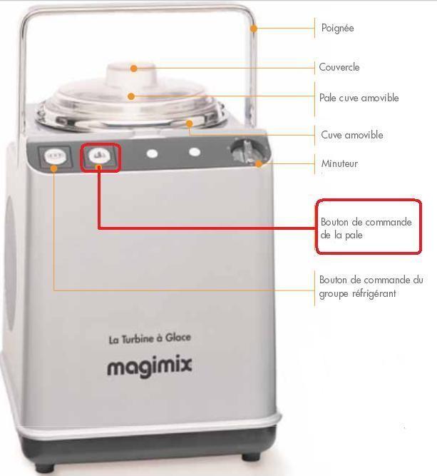 Bouton de commande de la pale pour turbine glace magimix - Turbine a glace magimix ...