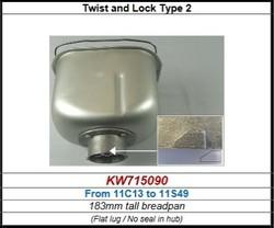 Cuve pour BM450 Kenwood série entre 11C13 et 11S49 référence KW715090