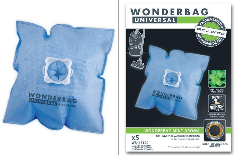 wonderbag sacs poches bleu mint aroma x5 pour aspirateur rowenta miss. Black Bedroom Furniture Sets. Home Design Ideas
