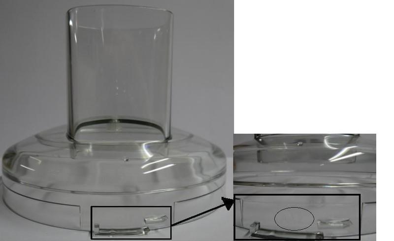 Couvercle de bol aa pour robot cuisine syst me 4100 et for Cuisine 5100 magimix
