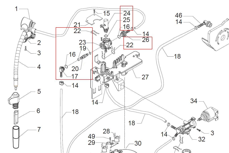 Kit Robinet Pour Robot Caf 233 Talea De Saeco Miss Pieces Com