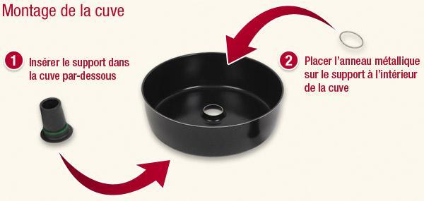 ensemble cuve joint support pour friteuse actifry. Black Bedroom Furniture Sets. Home Design Ideas