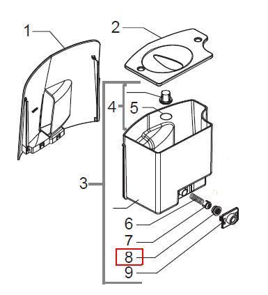valve du r servoir pour robot caf talea de saeco miss. Black Bedroom Furniture Sets. Home Design Ideas
